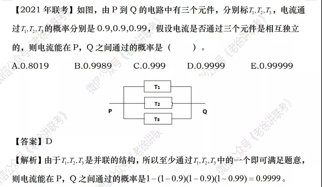 2022MBA考研|管理类联考每日一练-数学-独立事件概率