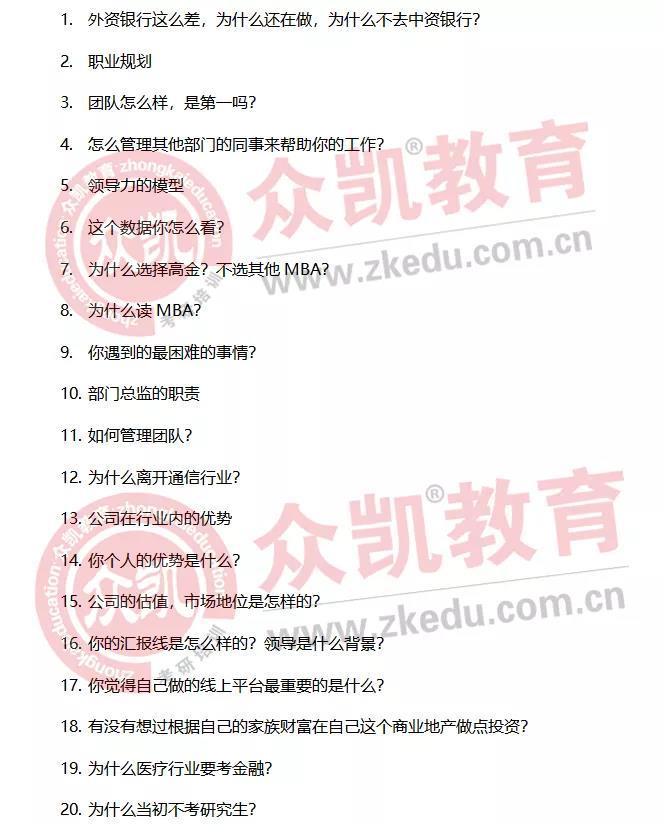 2022年入学上海交通大学(高金)MBA第二批面试真题汇总