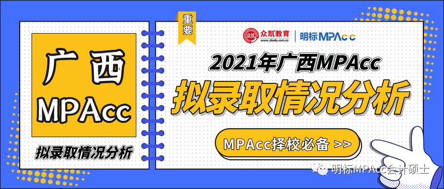 2021年广西MPAcc会计专硕分数线及拟录取情况分析