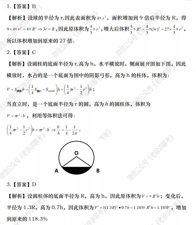2022MBA考研|管理类联考:数学专题训练-立体几何(第二期)