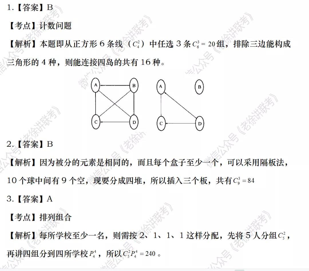 2022MBA考研|管理类联考:数学专题训练-排列组合(第五期)